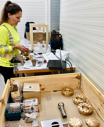 Assembly of ICM parts for Älvkarleby has started